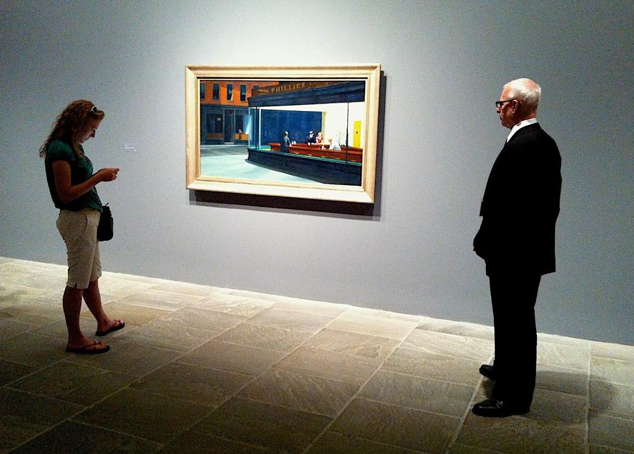 """I - Edward Hopper """"Nighthawks"""" at the Whitney"""